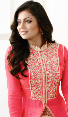 Designer Embroidered Suit:atisundar fascinating Pink Designer Embroidered Suits - 9383 - atisundar - 3