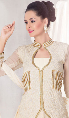 Designer Anarkali:atisundar Superb Off White Anarkali - 8478 - atisundar - 3 - click to zoom