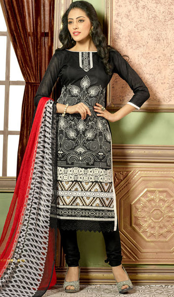 Designer Straight Cut:atisundar Smart Black Designer Straight Cut  - 8324 - atisundar - 1 - click to zoom