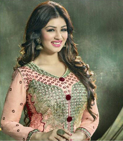 The Ayesha Takia Collection:atisundar elegant Pink Designer Embroidered Partywear Suits in Straight Cut - 9524 - atisundar - 3
