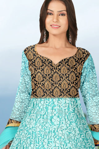 Designer Anarkali:atisundar Lovely Sea Green Designer Embroidered Anarkali - 10690 - atisundar - 2