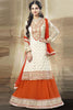 Festive Favorite:atisundar admirable Faux Georgette Designer Embroidered Lehenga in Orange - 5504 - atisundar - 5 - click to zoom