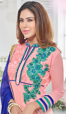 Designer Suit:atisundar gorgeous Light Pink Designer Embroidered Suit - 10236 - atisundar - 3