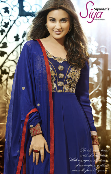 Parineeti Chopra For Siya:atisundar charming Blue Bollywood Embroidered Anarkali - 5954 - atisundar - 3 - click to zoom