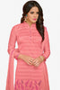 Designer Straight Cut:atisundar Attractive Peach Designer Party Wear Straight Cut - 13725 - click to zoom