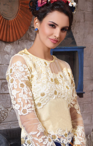 Designer Embroidered Suit:atisundar radiant Blue Designer Embroidered Suits - 8411 - atisundar - 4