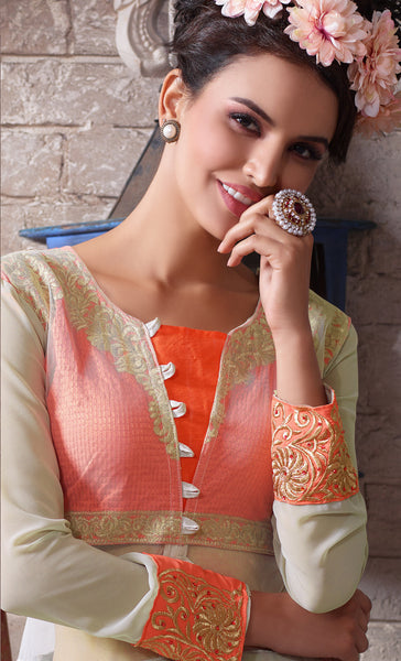 Designer Embroidered Suit:atisundar angelic Gray Designer Embroidered Suits - 8412 - atisundar - 3 - click to zoom