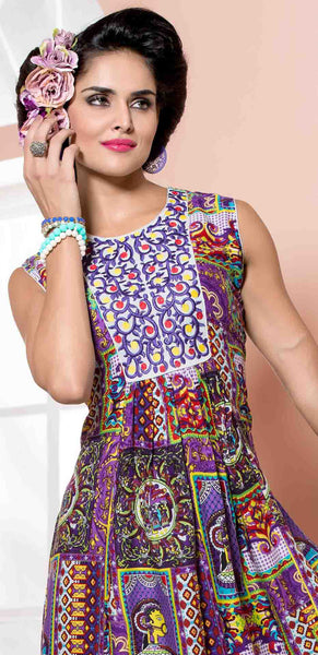 Designer tops:atisundar Superb Rayon Designer Printed Tops in Multi - 6915 - atisundar - 3 - click to zoom