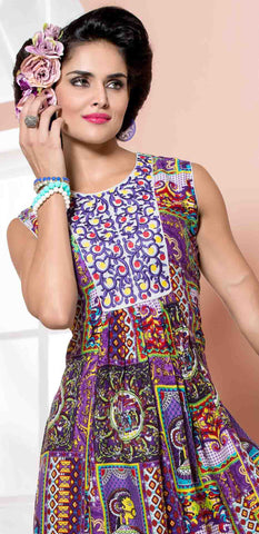 Designer tops:atisundar Superb Rayon Designer Printed Tops in Multi - 6915 - atisundar - 3