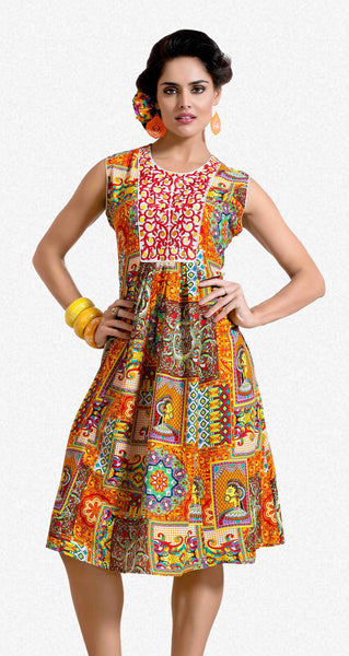 Designer tops:atisundar beauteous Rayon Designer Printed Tops in Multi - 6917 - atisundar - 1 - click to zoom