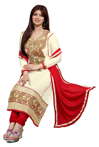 The Aayesha Takia Collection:atisundar magnificent Cream Designer Straight Cut  - 7403 - atisundar - 3 - click to zoom