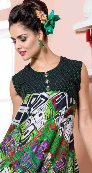 Designer tops:atisundar superb Rayon Designer Printed Tops in Green - 6929 - atisundar - 3 - click to zoom