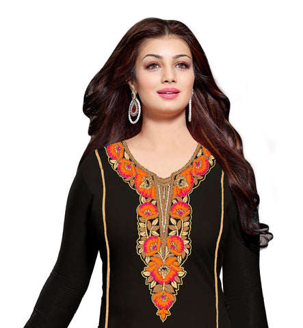 The Aayesha Takia Collection:atisundar charming Black Designer Straight Cut  - 7404 - atisundar - 3