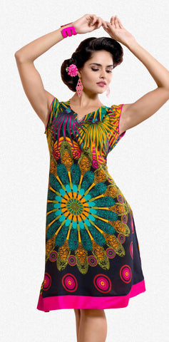 Designer tops:atisundar Great Rayon Designer Printed Tops in Multi - 6935 - atisundar - 1 - click to zoom