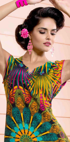 Designer tops:atisundar Great Rayon Designer Printed Tops in Multi - 6935 - atisundar - 3 - click to zoom