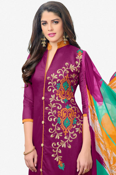 Designer Straight Cut:atisundar Attractive Pink Designer Embroidered Straight Cut - 12533 - atisundar - 3 - click to zoom