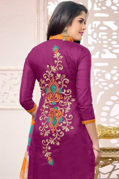 Designer Straight Cut:atisundar Attractive Pink Designer Embroidered Straight Cut - 12533 - atisundar - 5 - click to zoom