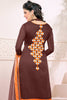 Designer Straight Cut:atisundar marvelous Brown Designer Embroidered Straight Cut - 12536 - atisundar - 5 - click to zoom