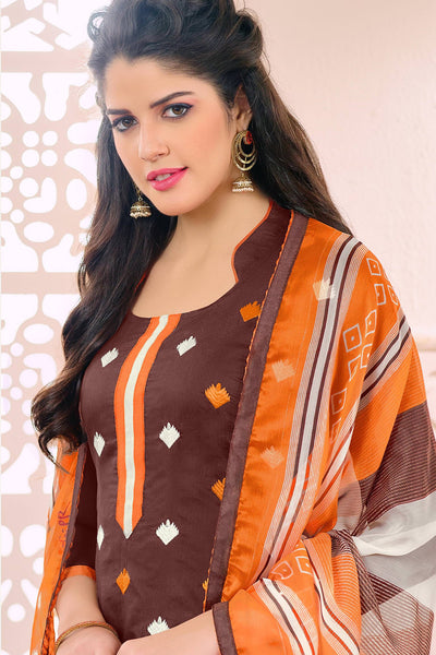 Designer Straight Cut:atisundar marvelous Brown Designer Embroidered Straight Cut - 12536 - atisundar - 6 - click to zoom