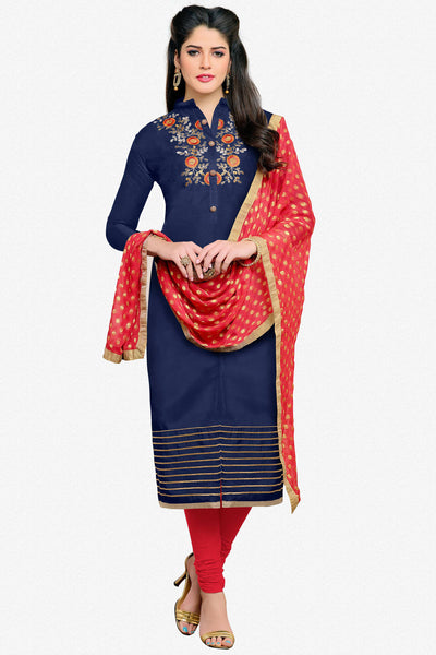 Designer Straight Cut:atisundar lovely Blue Designer Embroidered Straight Cut - 12538 - atisundar - 1 - click to zoom