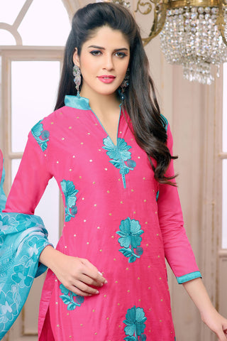 Designer Straight Cut:atisundar elegant Pink Designer Embroidered Straight Cut - 12539 - atisundar - 4