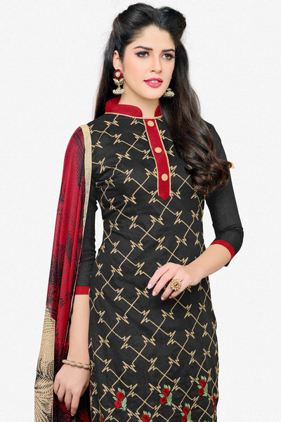 Designer Straight Cut:atisundar elegant Black Designer Embroidered Straight Cut - 12541 - atisundar - 3 - click to zoom