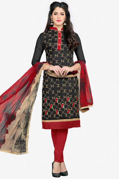Designer Straight Cut:atisundar elegant Black Designer Embroidered Straight Cut - 12541 - atisundar - 1 - click to zoom
