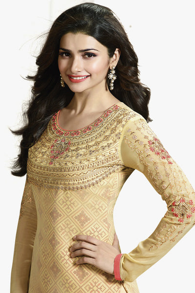 The Prachi Desai Collection:atisundar wonderful Yellow Designer Embroidered Partywear Suits in Straight Cut - 10496 - atisundar - 2 - click to zoom