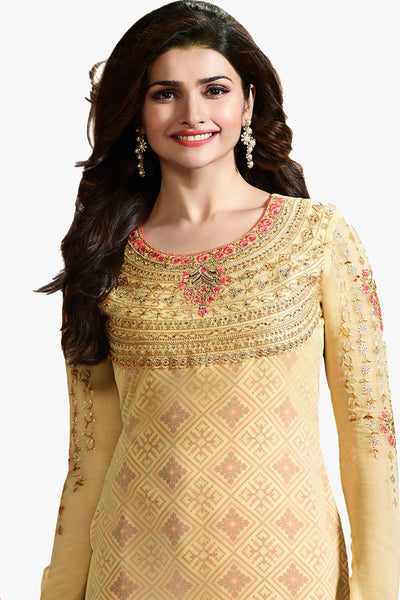 The Prachi Desai Collection:atisundar wonderful Yellow Designer Embroidered Partywear Suits in Straight Cut - 10496 - atisundar - 3 - click to zoom