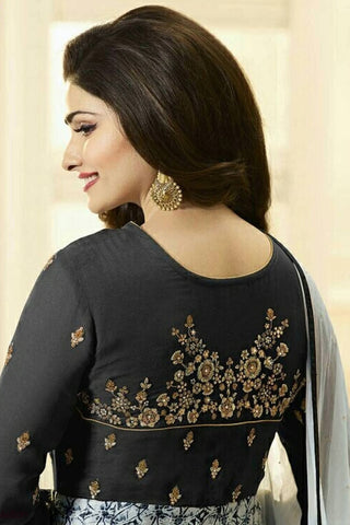 Designer Anarkali:atisundar fair Black Designer Party Wear Anarkali Featuring Prachi Desai - 12592