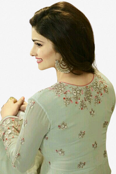 Designer Anarkali:atisundar graceful Light Green Designer Party Wear Anarkali Featuring Prachi Desai - 12595 - click to zoom