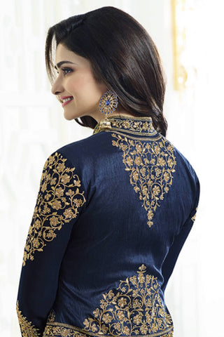Designer Straight Cut:atisundar Great Green Designer Party Wear Straight Cut Featuring Prachi Desai - 13552