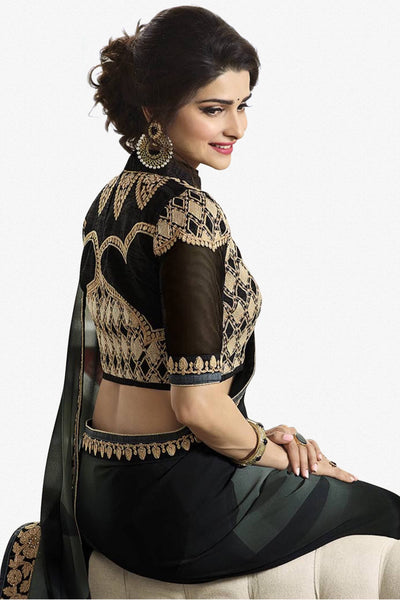 Designer Saree:atisundar lovely Designer Party Wear Saree Featuring Prachi Desai in Black  - 13544 - click to zoom