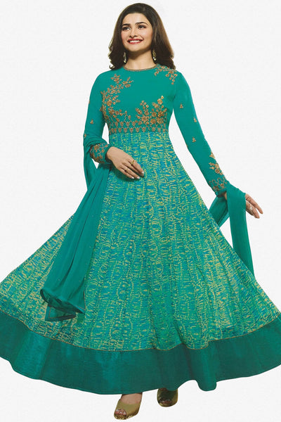 52b83a12089 atisundar refined Green Designer Party Wear Anarkali Featuring Prachi Desai  - 14247