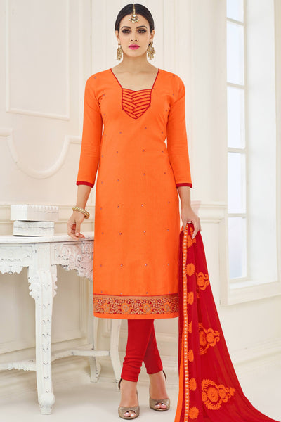 Designer Straight Cut:atisundar delightful Orange Designer Party Wear Straight Cut - 13787 - click to zoom