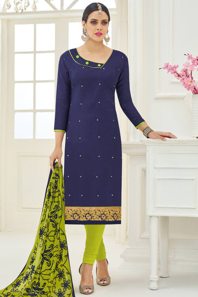 Designer Straight Cut:atisundar refined Blue Designer Party Wear Straight Cut - 13794 - click to zoom