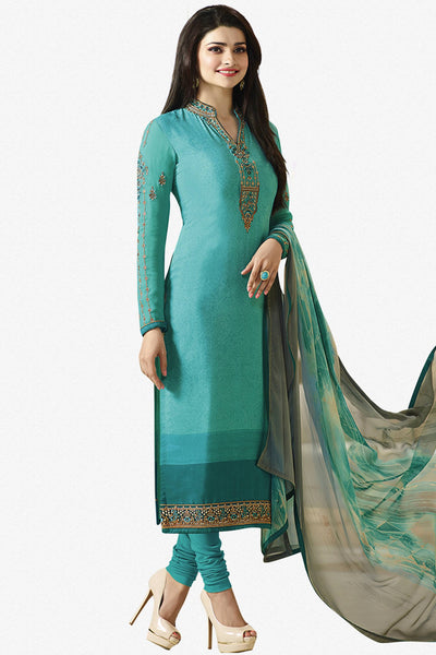 Designer Straight Cut:atisundar ravishing Blue Designer Party Wear Straight Cut Featuring Prachi Desai - 14233 - click to zoom