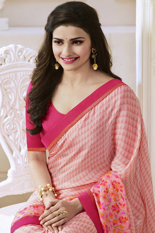 Designer Saree:atisundar fascinating Designer Party Wear Saree Featuring Prachi Desai in Pink  - 13744