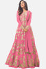 Abaya Style Net Anarkali With Embroidery And Stone Work:atisundar Lovely Pink Bollywood Embroidered Anarkali - 15500 - click to zoom