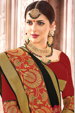 Designer Spun Polyster Saree:atisundar magnificent Designer Party Wear Sarees in Black  - 14885