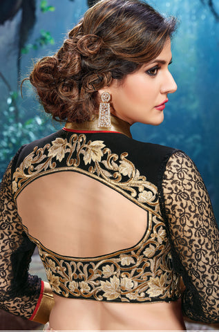 The Zarine Khan Collection:atisundar pretty Bhagalpuri embroidered Party Wear Lehenga in Black - 9555 - atisundar - 2