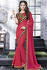 Designer Saree:atisundar lovely Designer Party Wear Saree With Lace in Pink  - 13272 - click to zoom