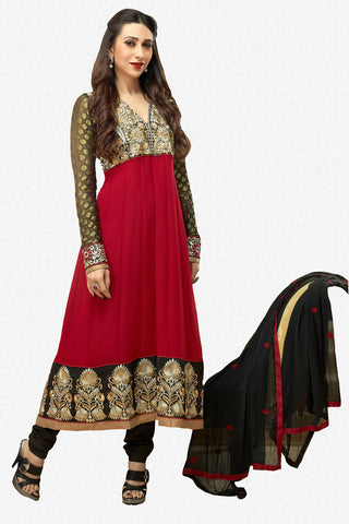 The Karishma Kapoor Collection: Stunning Semi-stitched Designer Bollywood Anarkali - 4176 - atisundar - 1 - click to zoom