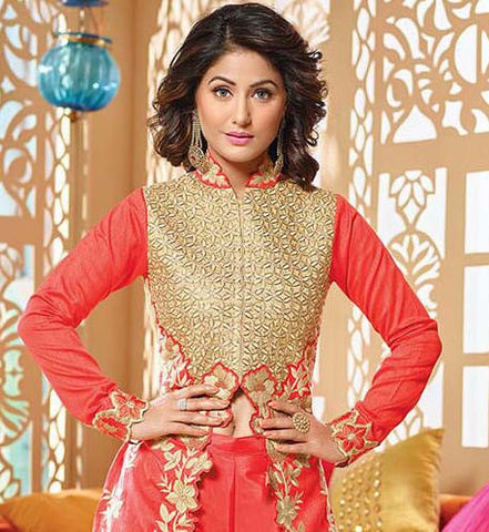 The Heena Khan Collection:atisundar radiant Designer Embroidered Suits - 9690 - atisundar - 2