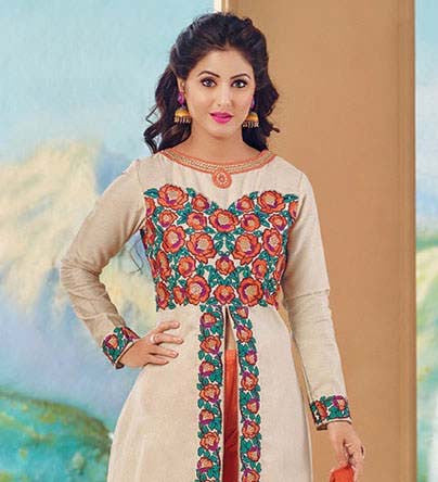 The Heena Khan Collection:atisundar bewitching Off White Designer Embroidered Suits - 9692 - atisundar - 3