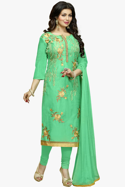 The Ayesha Takia Collection:atisundar elegant Sky Green Designer Party Wear Embroidered Straight Cut Featuring Ayesha Takia - 12173 - atisundar - 1 - click to zoom
