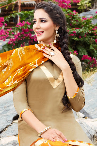 Designer Straight Cut:atisundar comely Brown Designer Party Wear Straight Cut - 12963