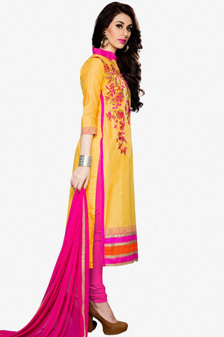 Designer Straight Cut:atisundar ravishing Yellow Designer Party Wear Straight Cut - 12934