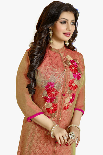 The Ayesha Takia Collection:atisundar Attractive Red Designer Party Wear Embroidered Straight Cut Featuring Ayesha Takia - 12174 - atisundar - 2 - click to zoom