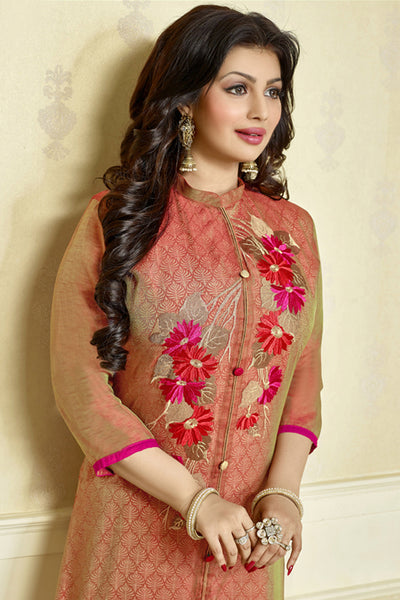 The Ayesha Takia Collection:atisundar Attractive Red Designer Party Wear Embroidered Straight Cut Featuring Ayesha Takia - 12174 - atisundar - 4 - click to zoom